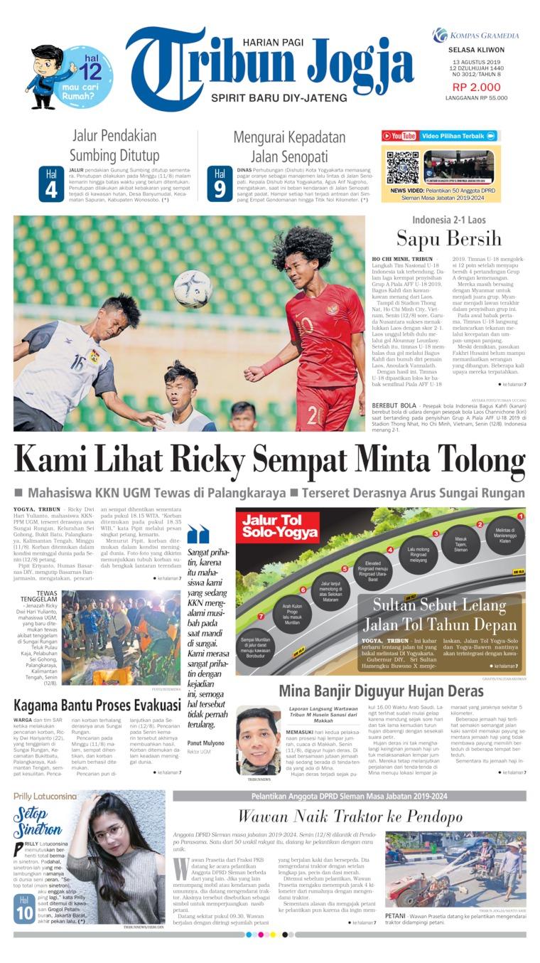 Tribun Jogja Digital Newspaper 14 August 2019