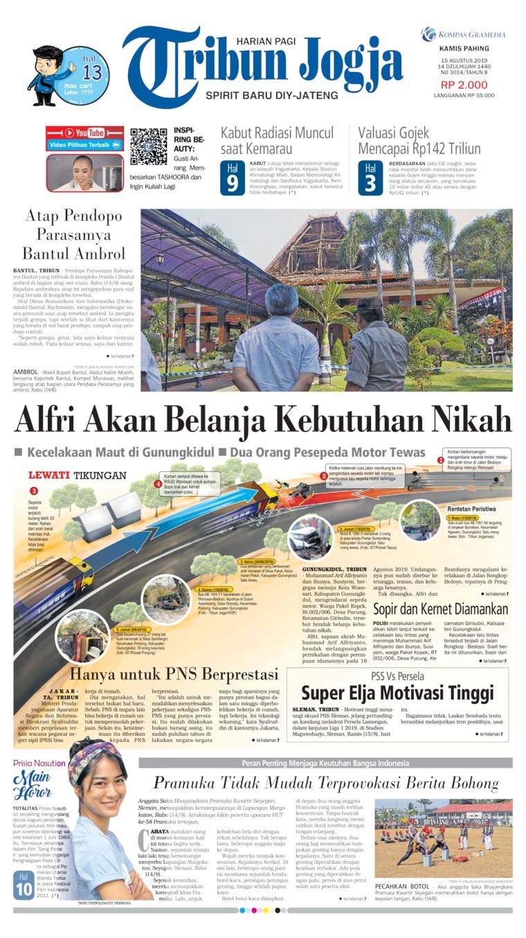 Tribun Jogja Digital Newspaper 15 August 2019
