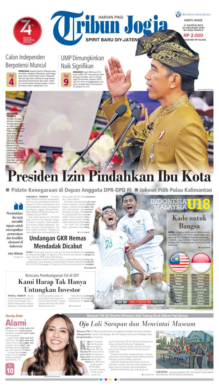 Koran Digital Tribun Jogja 17 Agustus 2019