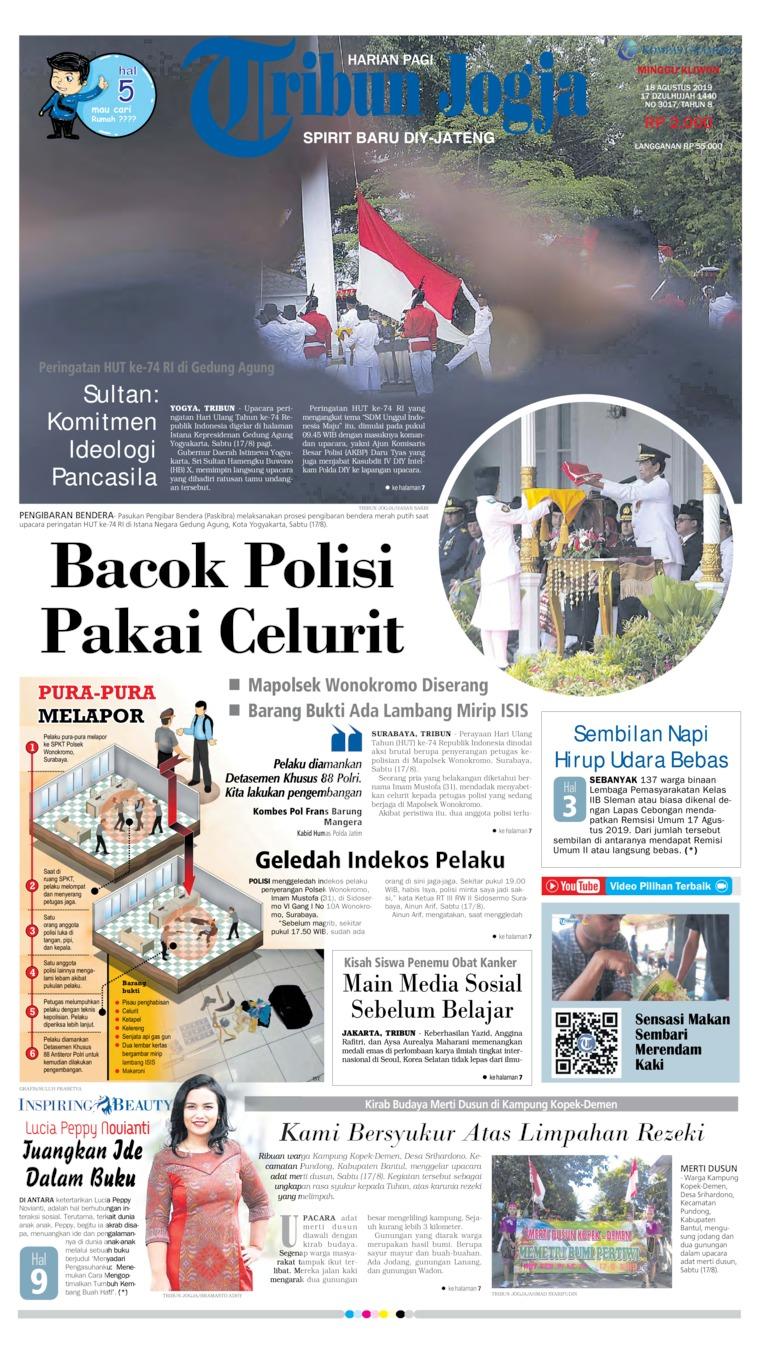 Tribun Jogja Digital Newspaper 18 August 2019