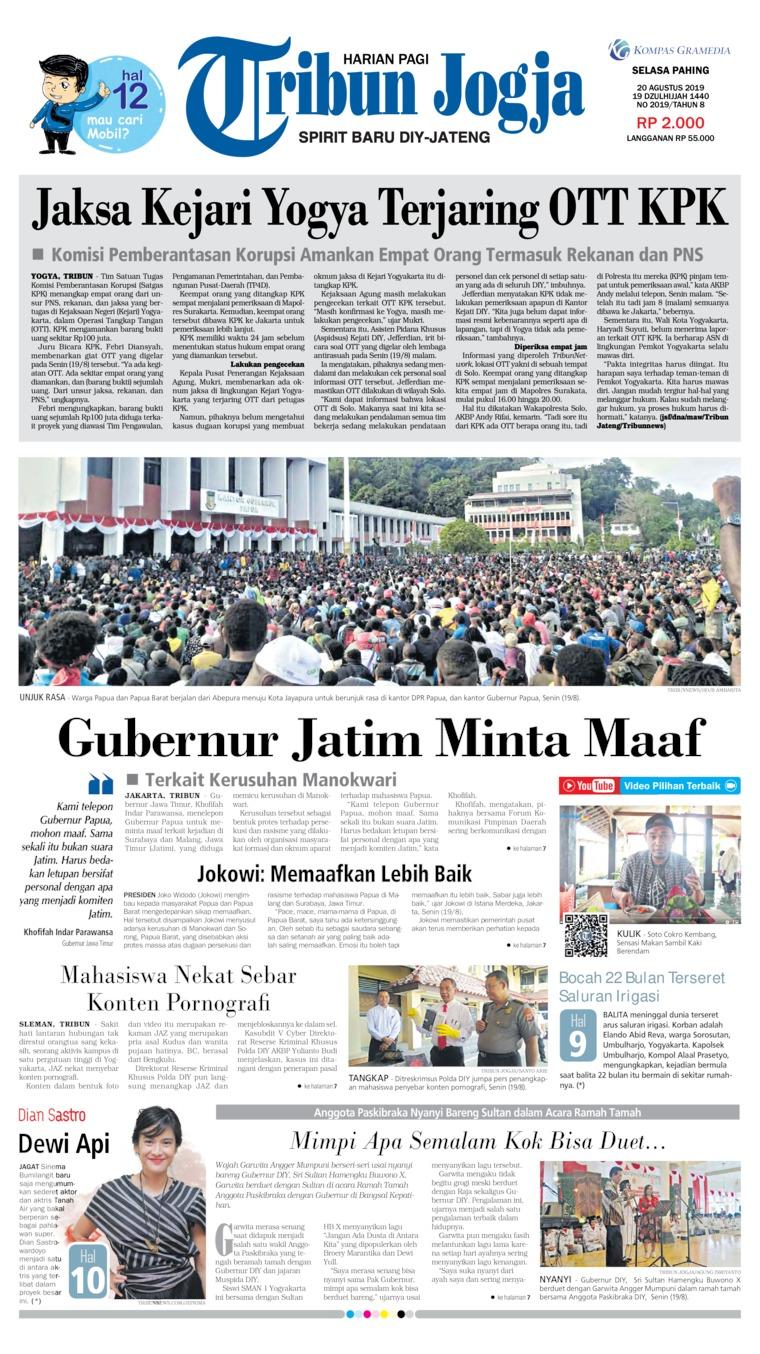 Tribun Jogja Digital Newspaper 20 August 2019