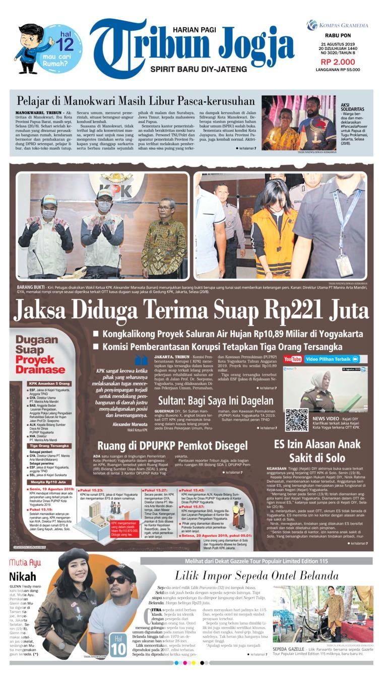 Tribun Jogja Digital Newspaper 21 August 2019
