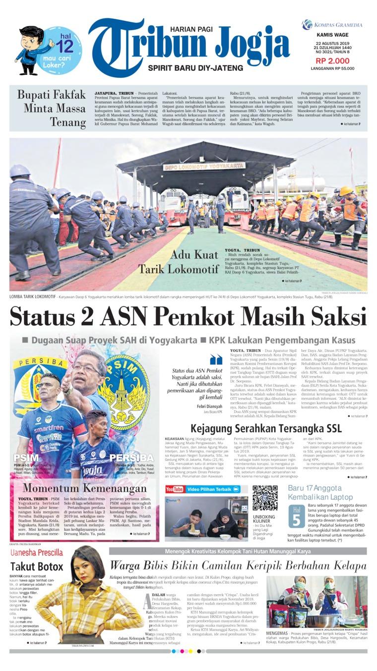 Tribun Jogja Digital Newspaper 22 August 2019
