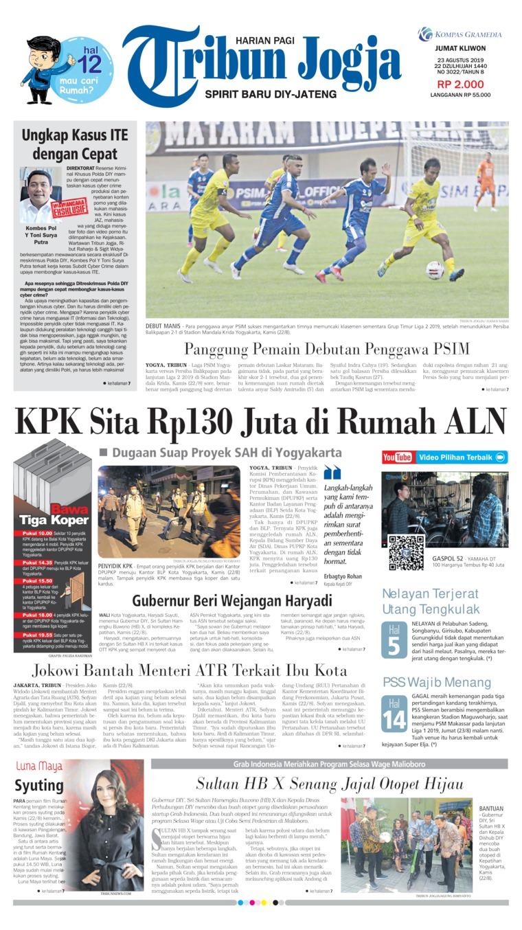 Koran Digital Tribun Jogja 23 Agustus 2019