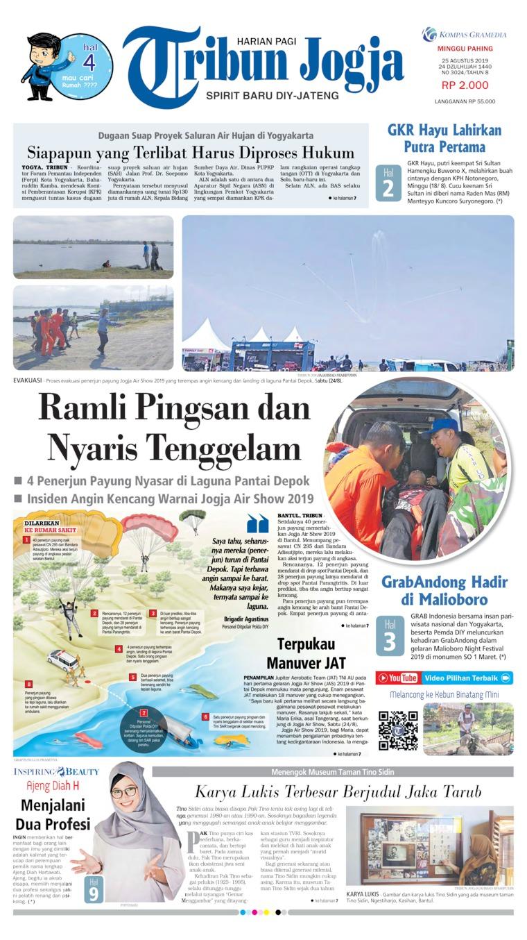 Tribun Jogja Digital Newspaper 25 August 2019