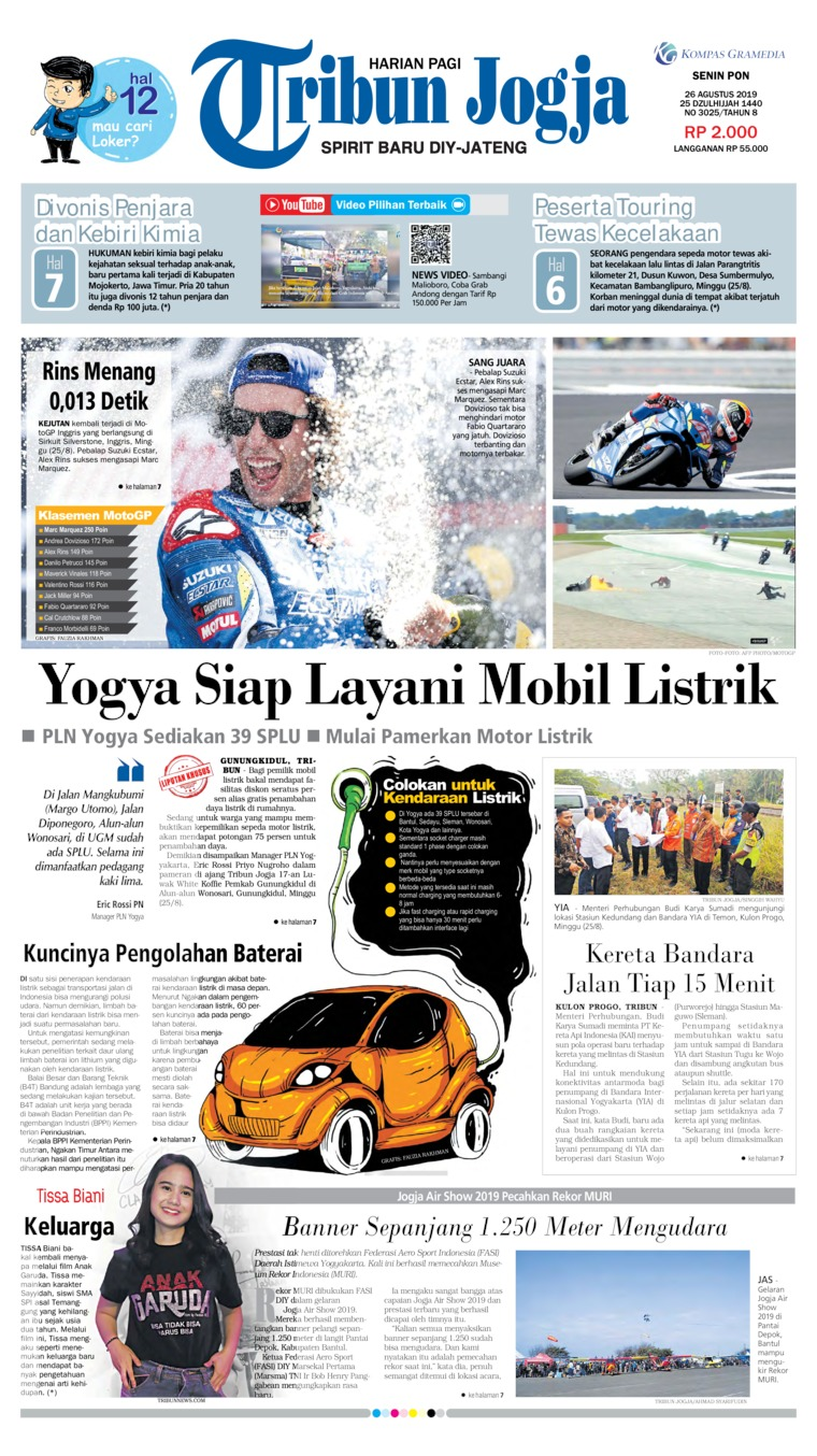 Tribun Jogja Digital Newspaper 26 August 2019