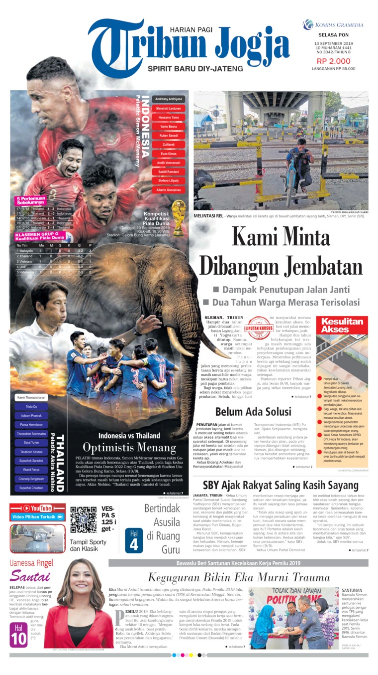 Koran Digital Tribun Jogja 10 September 2019
