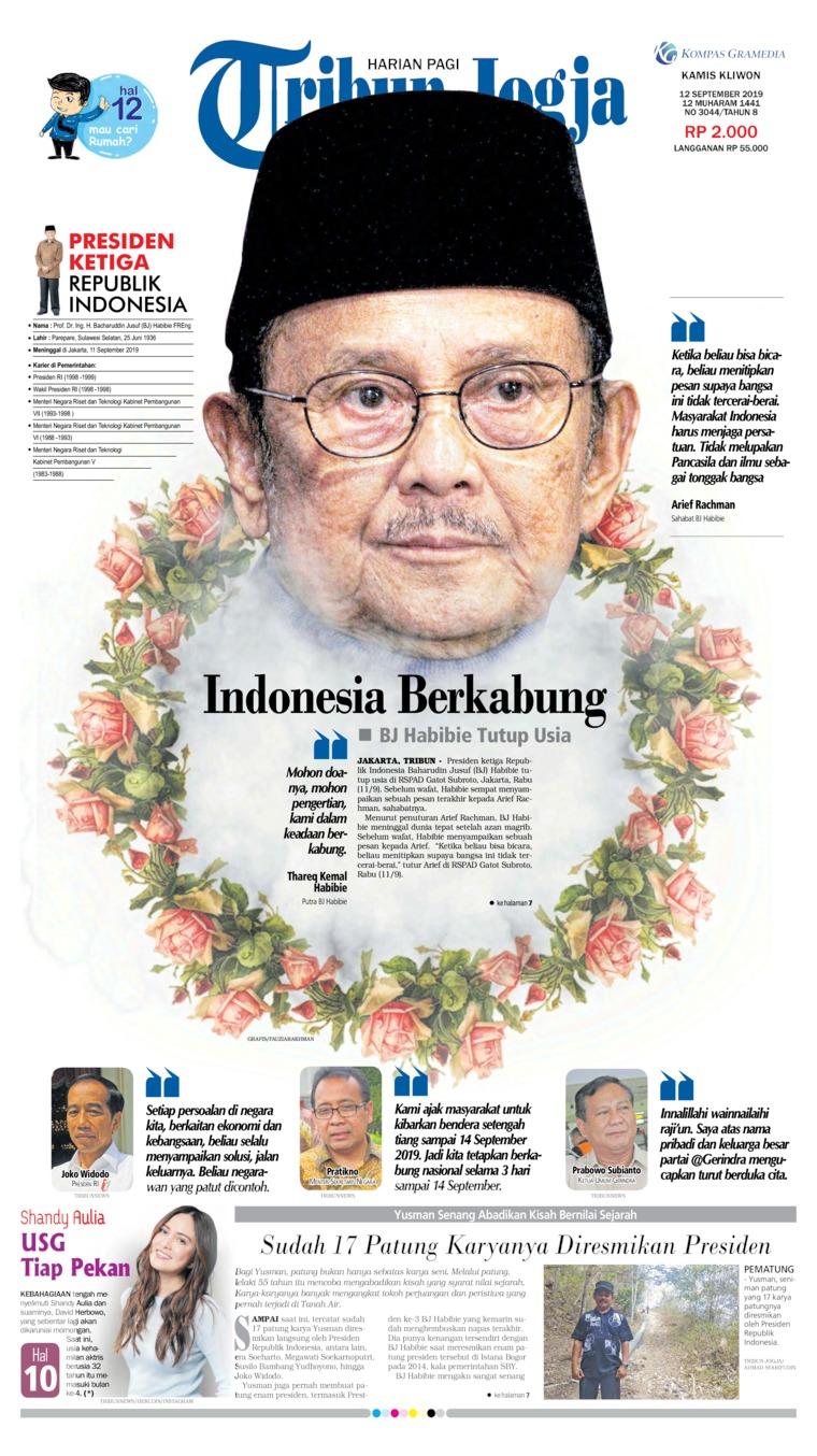 Koran Digital Tribun Jogja 12 September 2019