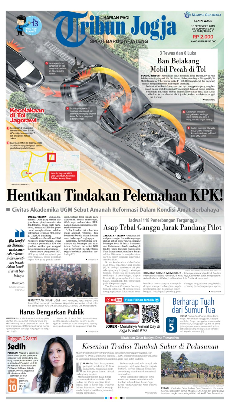Koran Digital Tribun Jogja 16 September 2019