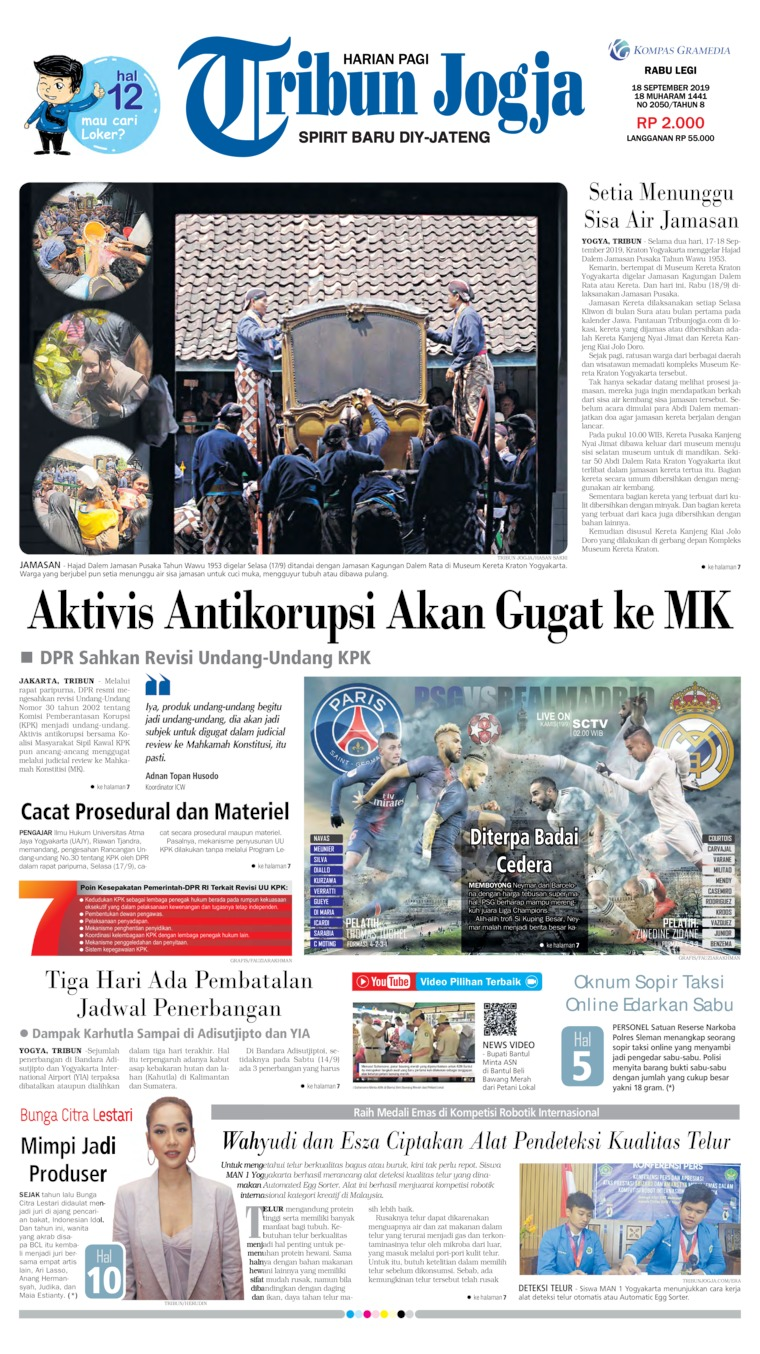 Tribun Jogja Digital Newspaper 18 September 2019