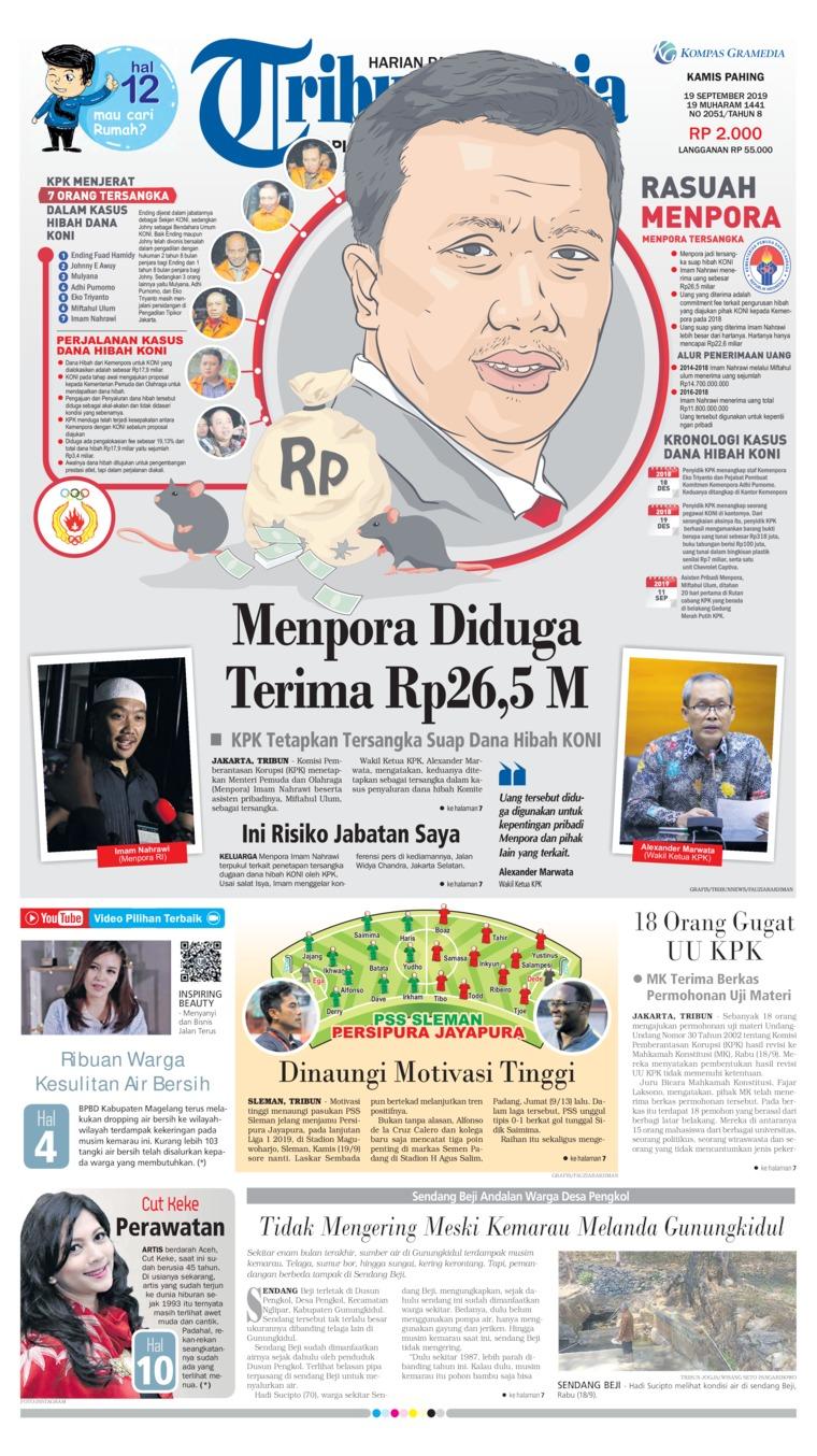 Koran Digital Tribun Jogja 19 September 2019