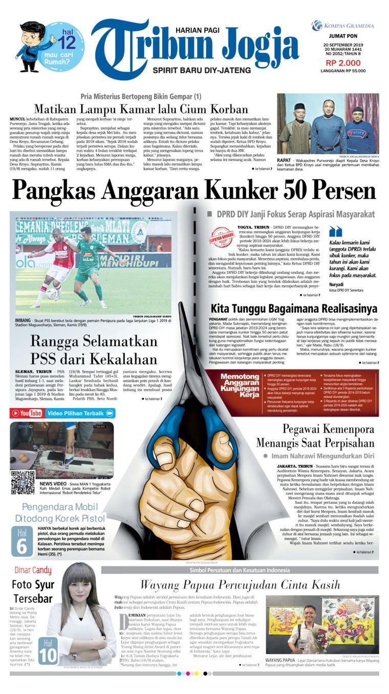 Koran Digital Tribun Jogja 20 September 2019