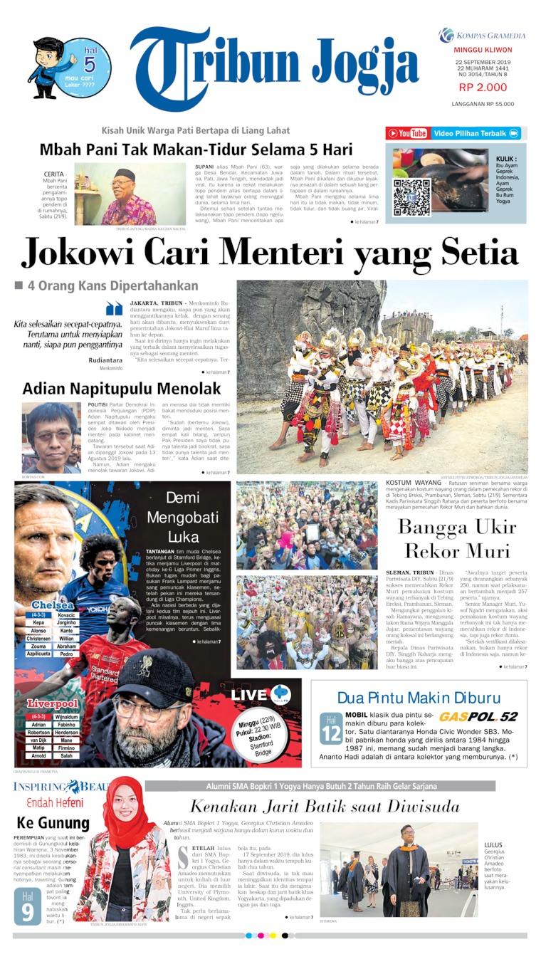 Koran Digital Tribun Jogja 22 September 2019