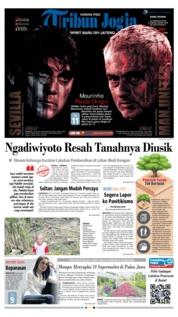 Cover Tribun Jogja 21 Februari 2018