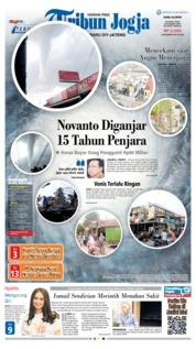 Cover Tribun Jogja 25 April 2018
