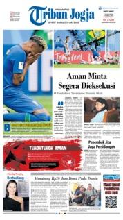 Cover Tribun Jogja 23 Juni 2018