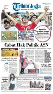 Cover Tribun Jogja 25 Juni 2018