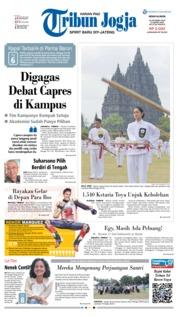 Cover Tribun Jogja 22 Oktober 2018
