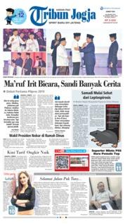 Cover Tribun Jogja 18 Januari 2019