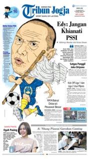 Cover Tribun Jogja 21 Januari 2019