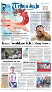 Cover Tribun Jogja 23 Januari 2019