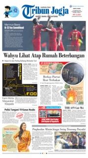 Cover Tribun Jogja 23 Februari 2019