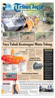 Cover Tribun Jogja 19 Maret 2019