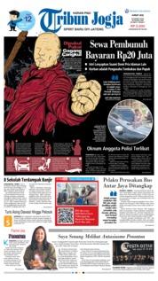 Cover Tribun Jogja 22 Maret 2019