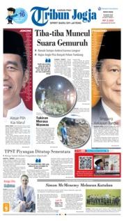 Cover Tribun Jogja 25 Maret 2019