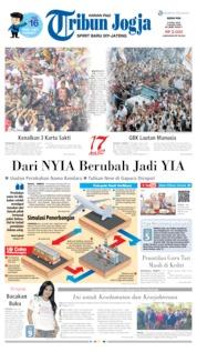 Cover Tribun Jogja 08 April 2019