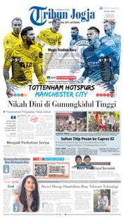 Cover Tribun Jogja 09 April 2019
