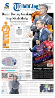Cover Tribun Jogja 10 April 2019