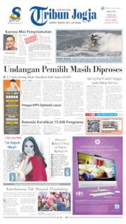 Cover Tribun Jogja 13 April 2019