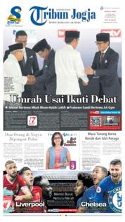 Cover Tribun Jogja 14 April 2019