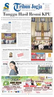 Tribun Jogja Cover 19 April 2019