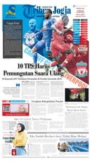 Cover Tribun Jogja 21 April 2019