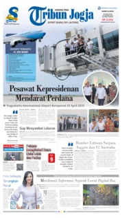 Cover Tribun Jogja 25 April 2019