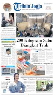 Cover Tribun Jogja 13 Mei 2019