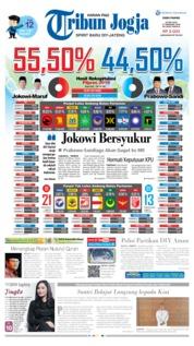 Cover Tribun Jogja 22 Mei 2019