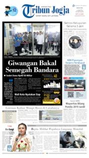 Cover Tribun Jogja 17 Juni 2019