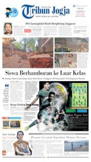 Cover Tribun Jogja 17 Juli 2019