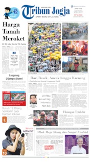 Cover Tribun Jogja 12 Agustus 2019