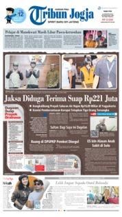 Cover Tribun Jogja 21 Agustus 2019