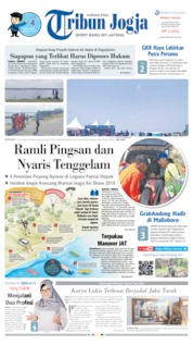 Cover Tribun Jogja 25 Agustus 2019