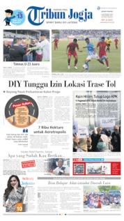 Cover Tribun Jogja 09 September 2019
