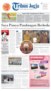Tribun Jogja Cover 14 September 2019