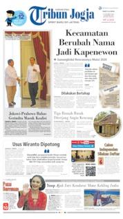 Cover Tribun Jogja 12 Oktober 2019