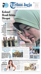 Cover Tribun Jogja 13 Oktober 2019