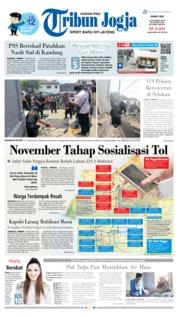 Cover Tribun Jogja 18 Oktober 2019
