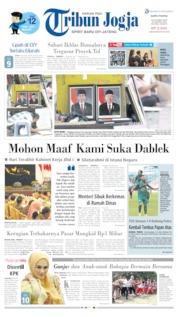 Cover Tribun Jogja 19 Oktober 2019